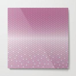 Hexagon in Pink Metal Print