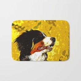 bernese mountain dog vector art Bath Mat
