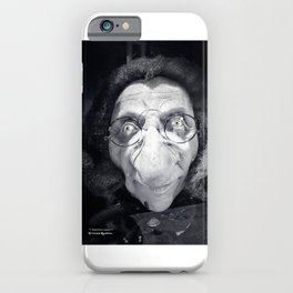 The dark ugly witch iPhone Case