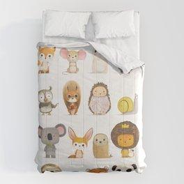 Mr. Lion, Mr. Squirrel & Their Friends Comforters