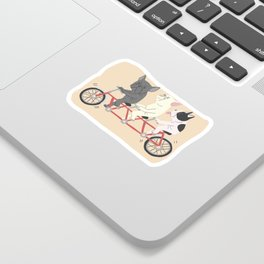 tandem bike Sticker