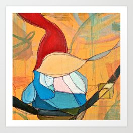 Abstract Study of Gnome (Pt.4) Art Print