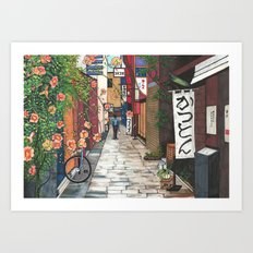 Flowers in an Alley Art Print