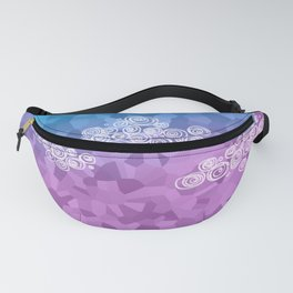 Abstract clouds - dudle on colorful background Fanny Pack