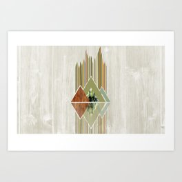 Art Deco Woods Art Print