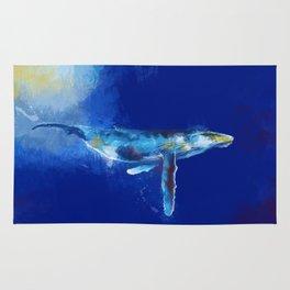 Deep Blue Whale Rug