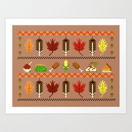 Ugly Thanksgiving Sweater Art Print