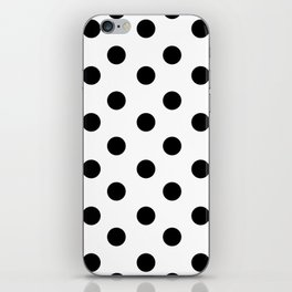 White & Black Polka Dots iPhone Skin