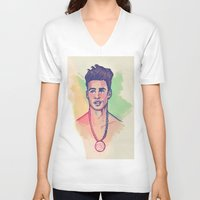 rebel V-neck T-shirts featuring Rebel by ARTBYSKINGS