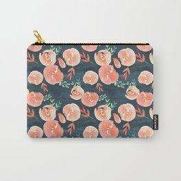 Modern Blush on Navy Carry-All Pouch