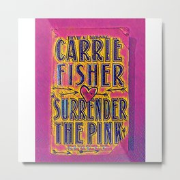 pink surrender Metal Print