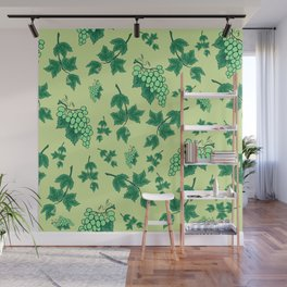 Seamless background from bunches of grapes Wall Mural