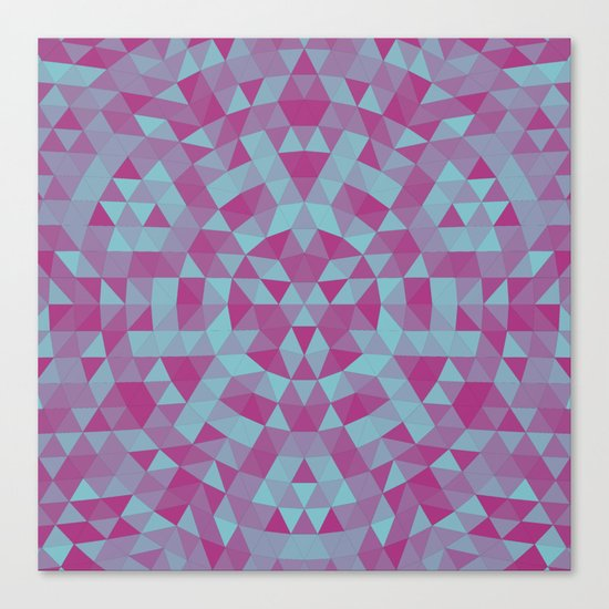 Triangle mandala 2 Canvas Print
