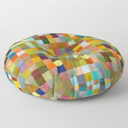 Squares in Rustic Form Floor Pillow