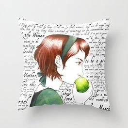 Jo March - Little Women Throw Pillow