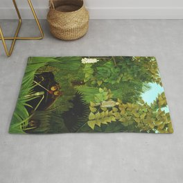 "Henri Rousseau ""Merry Jesters"" Rug"