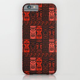 Lava Red Tikis! iPhone Case