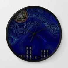 Dashed Night Wall Clock