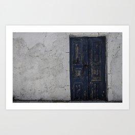 Behind closed doors 2 Art Print