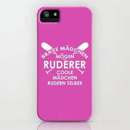 Funny Rower Girls Rowing Boat Crew Gift iPhone Case