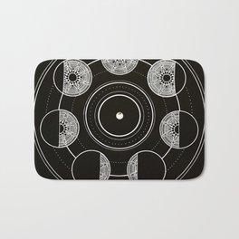 Mandala Moon Circle Bath Mat