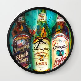 Yuengling Beer - Black and White, Lager and Light Beer Wall Clock