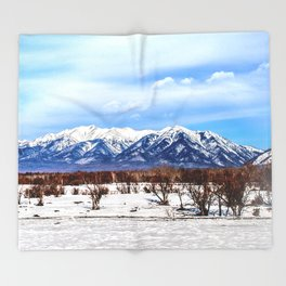 Sayan Mountains Throw Blanket