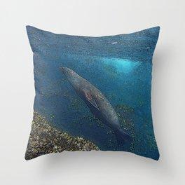 Papa Sealion Throw Pillow