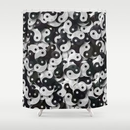 Yin Yang Universe Shower Curtain