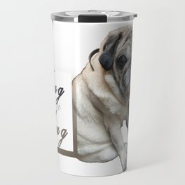 Pug Dog D Travel Mug