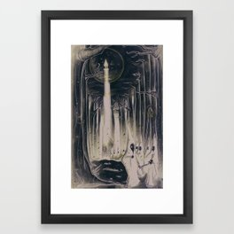 Obey The Moon Framed Art Print