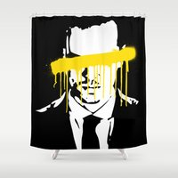 moriarty Shower Curtains featuring Moriarty by tillieke