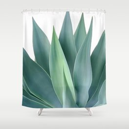 Agave blanco Shower Curtain