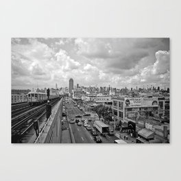 New York From the Seven Train Canvas Print