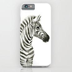Zebra Watercolor Baby Animals Slim Case iPhone 6s