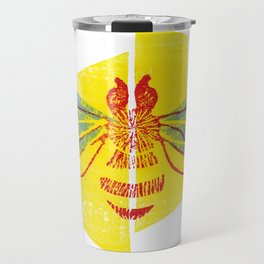 Be Safe - Save Bees linocut Travel Mug