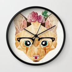 miss cat  Wall Clock