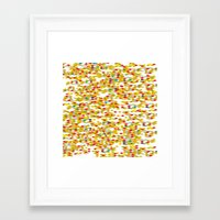 confetti Framed Art Prints featuring Confetti by Simi Design