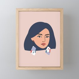 Woman portrait Framed Mini Art Print