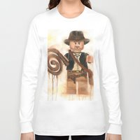 indiana jones Long Sleeve T-shirts featuring Indiana Jones Lego by Toys 'R' Art