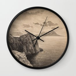 ALBERT NIKOLAYEVICH BENOIS (RUSSIAN 1852-1936) Cliffside Seascape, early 1900s Wall Clock