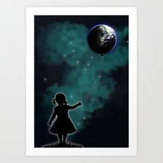 The Girl That Holds The World Art Print
