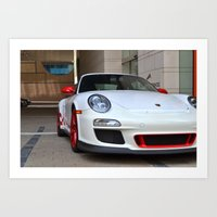 porsche Art Prints featuring Porsche by Nick Nieu