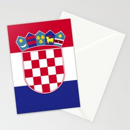Croatia flag emblem Stationery Cards