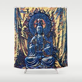 Glass temple of Marcy  Shower Curtain