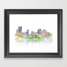 Pittsburgh Downtown Framed Art Print