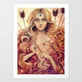 Zodiac Stagittarius Art Print