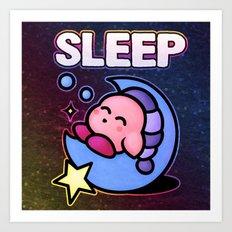 Kirby Sleep Art Print