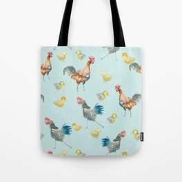 Chickens and Chicks Tote Bag