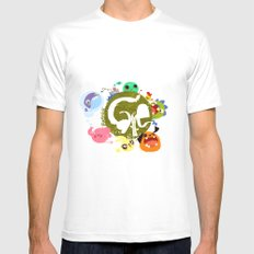 CARE - Love Our Earth MEDIUM White Mens Fitted Tee
